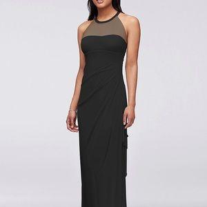 David's Bridal Black Bridesmaid Dress